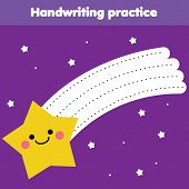 Tracing Lines For Toddlers. Handwriting Practice Sheet. Educational Children Game, Printable Workshe poster