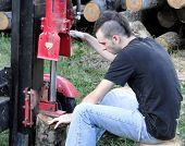 Cortadora de troncos