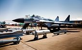MOSCOW, RUSSIA, AUGUST,16: Torpedo, Bombs and Fighter at the International Aviation and Space salon MAKS 2011, August 16, 2011 at Zhukovsky, Russia