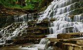 stock photo of unicity  - unic beautiful view of albion falls in hamilton Canada - JPG