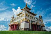 Buddhist Temple Golden Abode Of Buddha Shakyamuni In Elista, Republic Of Kalmykia, Russia. poster