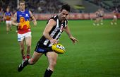 MELBOURNE - AUGUST 20: Collingwood's Alan Didak in action during their win over Brisbane - August 20