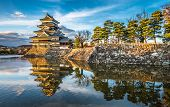 Matsumoto Castle At Sunset, National Treasure Of Japan poster