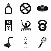 Occupational Health Icons Set. Simple Set Of 9 Occupational Health Vector Icons For Web Isolated On  poster