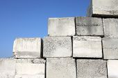 image of cornerstone  - stack of concrete blocks - JPG