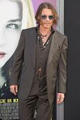 HOLLYWOOD, CA - MAY 7: Actor Johnny Depp arrives at the premiere of the Warner Bros. Pictures' Dark