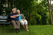 Elderly Couple Enjoying The View