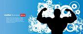 Ilustração em vetor de muscle man