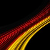 Ilustra la bandera alemana para eventos deportivos sobre fondo negro