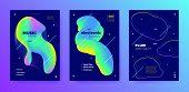 Modern Music Banner. Gradient Sound. House Festival. Multicolor 3d Flow Invitation. Neon Music Desig poster
