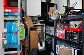 Cluttered Storage Room With Too Much Stuff poster