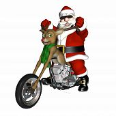 Santa's Reindeer Konzept Chopper