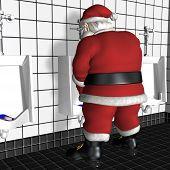 Santa Using Urinal