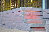 hot steel stack