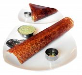 stock photo of ghee  - Masala dosa and plain dosa  - JPG
