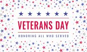 Happy And Free Veterans Day November 11th. Honoring All Who Served Greeting Card. Creative Beautiful poster