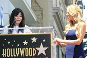 LOS ANGELES - MAY 10: Ellen K, Miranda Cosgrove at a ceremony where Ellen K is honored with the 2471st star on the Hollywood Walk of Fame on May 10, 2012 in Los Angeles, California