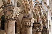Pillars Of The Outer Facade Of Rectors Palace In Dubrovnik Croatia poster