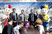 Kiev, Ukraine May 11. 2012: The Uefa Cup Is Coming To Kiev.