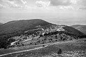 View Of Shipka Pass From Buzludzha Peak. Shipka Pass - A Scenic Mountain Pass Through The Balkan Mou poster
