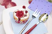 Muffin With Marchpane Rose