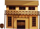 Abbildung eines isolierten Gebäudes aus den wilden Westen - EPS-Vektor-Format auch in meinem Por erhältlich