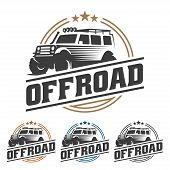 Off Road Car Logo, Offroad Logo, Suv Car Logo Template, Off-road poster