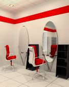Workplace In Salon Of Beauty