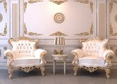 foto of buff  - Royal furniture in luxury interior - JPG