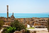 Ruins Of Ancient Antonine Baths In Carthage.
