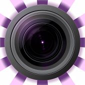 Camera Lens With Violet Flare