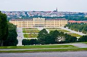 picture of schoenbrunn  - view of the palace Schoenbrunn in Vienna - JPG