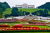 stock photo of schoenbrunn  - view of the Gloriette of the park Schoenbrunn in Vienna - JPG