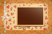 Photo Frame On Retro Pattern