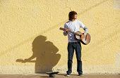 Musician On Sidewalk