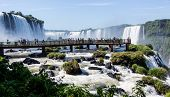 Walking Bridge at Iguassu Falls, Brazil