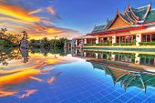KOH KHO KHAO, THAILAND - NOV 15: Architecture of Andaman Princess Resort & SPA at sunset. Hotel was
