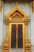 Wood Door Carves In A Temple