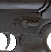 image of ar-15  - Fire controls found on the side of an AR 15 - JPG
