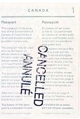 Cancelled Canadian Passport
