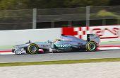 Formula One Teams Test Days At Catalunya Circuit