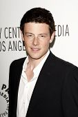 BEVERLY HILLS - MAR 16:  Cory Monteith arriving at the 2011 PaleyFest honoring 'Glee' held at the Sa