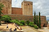 GRANADA, SPAIN - MAY 19: The Alcazaba of La Alhambra on May 19, 2012 in Granada, Spain. La Alhambra