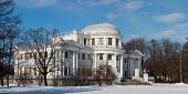 stock photo of sankt-peterburg  - Yelagin palace in winter day Sankt - JPG