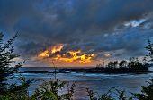 Golden Storm Clouds Over Ocean