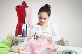 Portrait of little seamstress