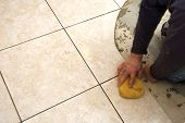 Grout Sponging