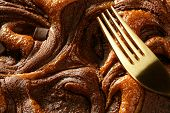 Chocolate Cake Crop Macro Texture, Golden Light