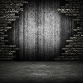 parede de tijolo quebrado