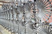 Metal Fence In Park Guell